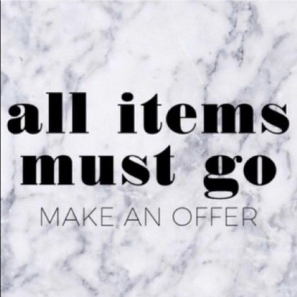 ALWAYS OPEN TO OFFERS!!!